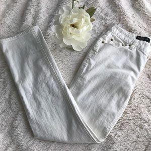 J. Crew Matchstick Pant 29 Regular Off White